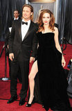 Brad Pitt and Angelina Jolie posed on the Oscars red carpet.
