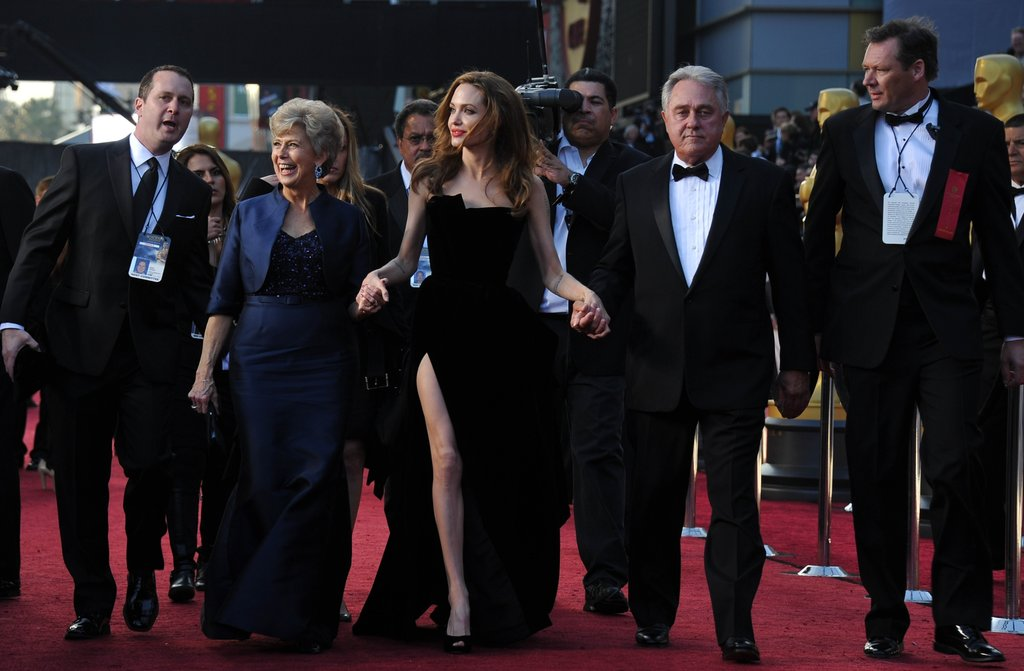 Angelina Jolie led Bill and Jane into the event.