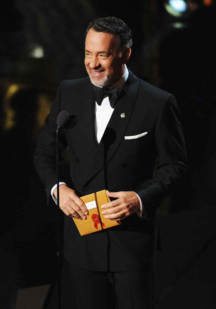 Tom Hanks presented an award.