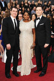 Octavia Spencer Wears White For Her Oscars Night