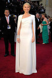 Gwyneth Paltrow wore a white Tom Ford gown.