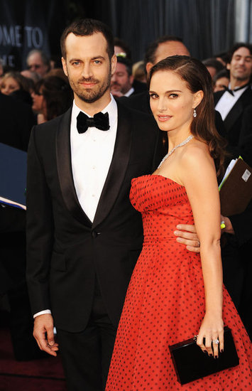Natalie Portman is Dripping in Diamonds and Polka Dots with Fiancé Ben at the Academy Awards