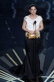 Sandra Bullock presented an award at the 2012 Oscars.
