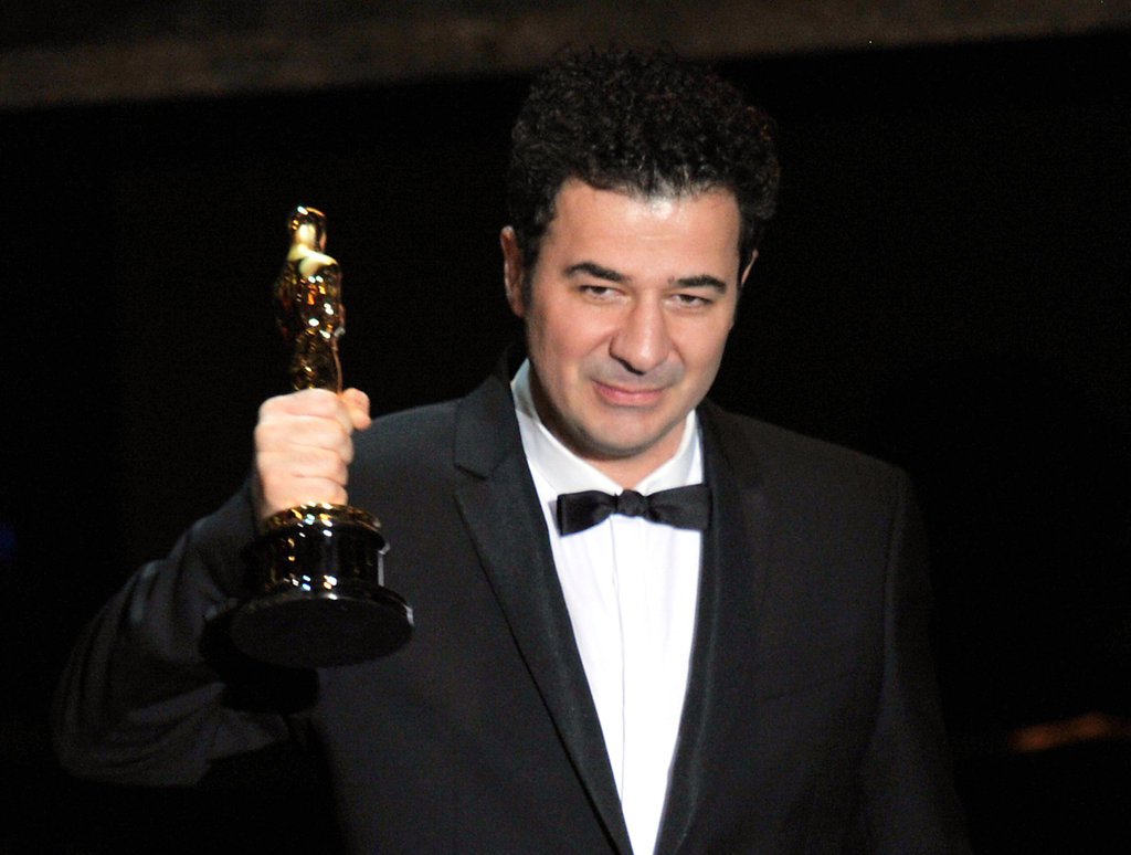 Composer Ludovic Bource accepted the best original score award for The Artist.
