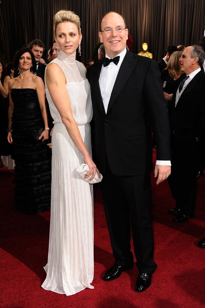The Prince and Princess of Monaco arrive at the Academy Awards