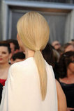 Gwyneth Paltrow rocked a simple ponytail.