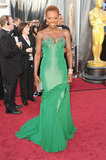 Viola Davis donned green a Vera Wang gown.