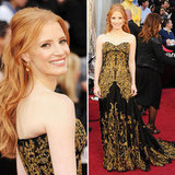 Jessica Chastain in Alexander McQueen at Oscars 2012