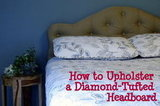 Diamond-Tufted Upholstered Headboard
