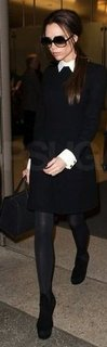 Victoria Beckham Collared Black Dress