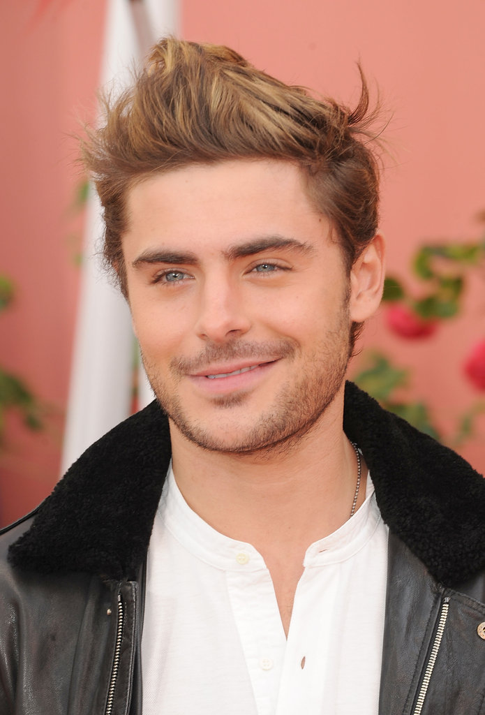 Zac Efron close up at the premiere of The Lorax.