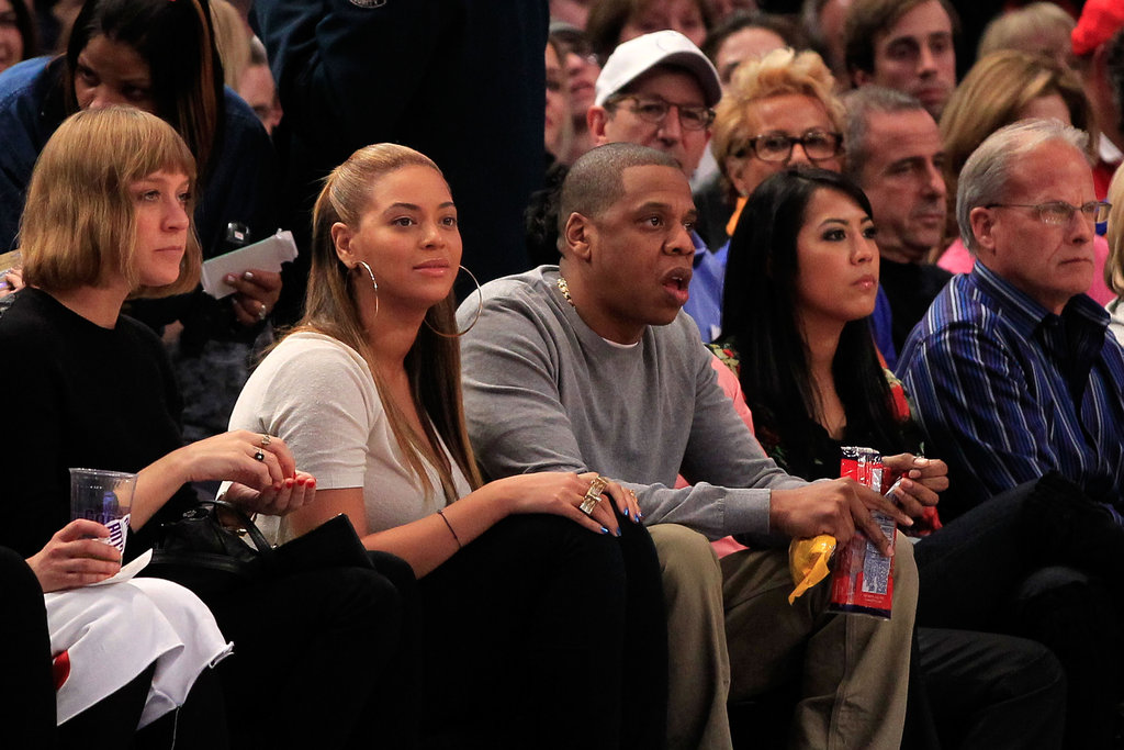 Beyonce and Jay-Z had courtside seats.