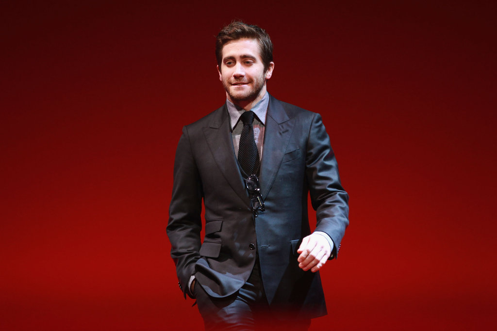 Jake Gyllenhaal arrived on stage at the Berlin Film Festival closing ceremonies.