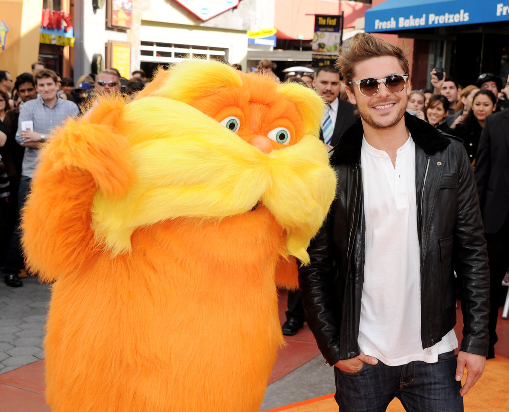 Zac Efron and the Lorax got together for a photo.