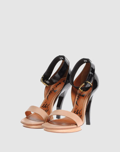 Two-tone ankle-strap heels are a Spring must have. Lanvin Platform Sandals ($345, originally $607)