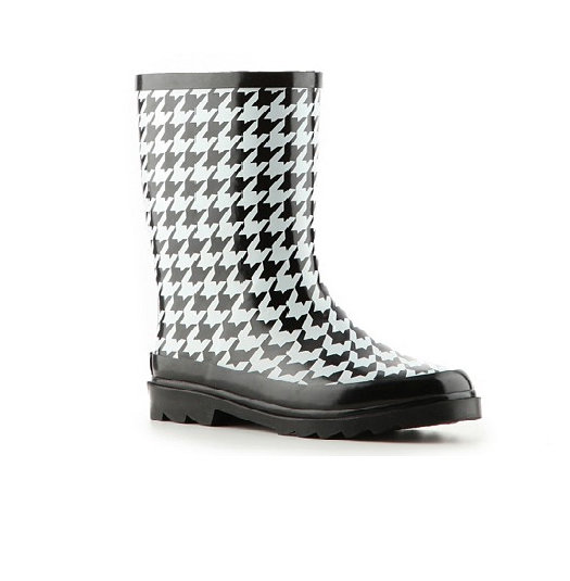 Rampage Houndstooth Rainboot ($25)