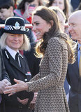 Kate Middleton greeted police officers.