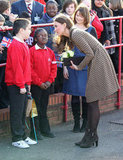 Kate Middleton chatted with school kids.