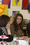 Kate Middleton listened in Oxford.