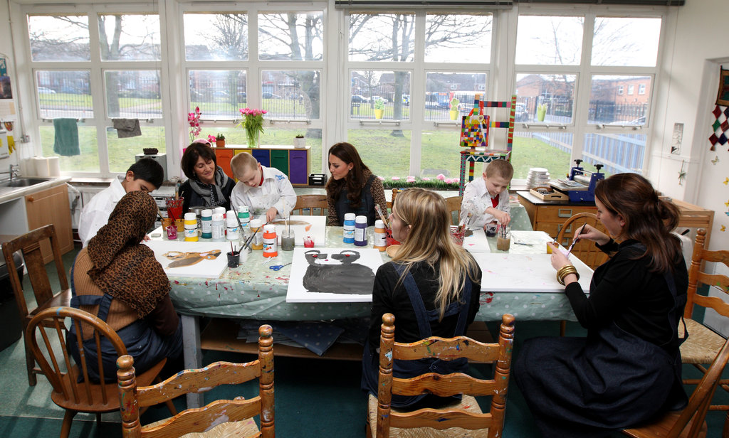 Kate Middleton observed an art class in Oxford.