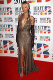 Rihanna in beaded Givenchy never skimps on the sexy appeal, and it was in full force at the Brit Awards.