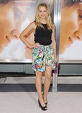 Teresa Palmer paired a sheer top with a floral printed Lisa Ho skirt at The Vow premiere.    More American Apparel...