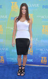 A curve-hugging black and white Givenchy for the 2011 Teen Choice Awards.