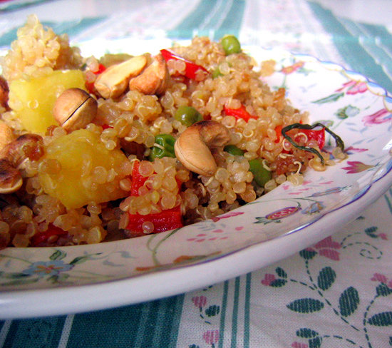 Pineapple Cashew Quinoa Stir-Fry