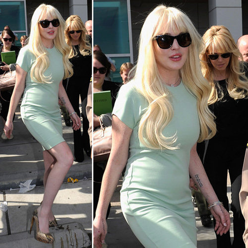 Lindsay Lohan Mint Dress