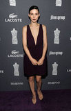 Rooney Mara wore a plunging V-necked dress to the Costume Designers Guild Awards.