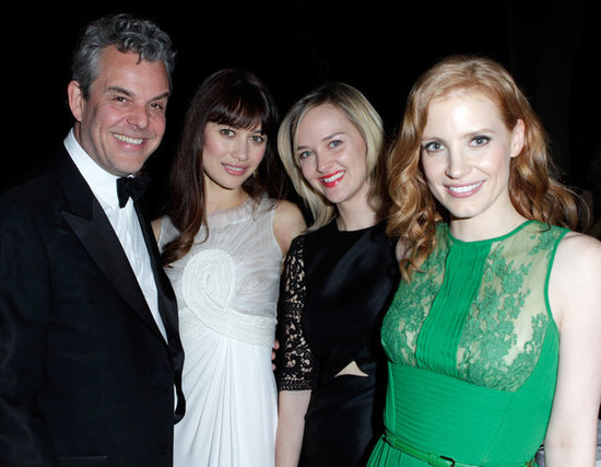 Danny Huston, Olga Kurylenko, Jess Weixler, and Jessica Chastain arrived at a tribute to Sir Charles Chaplin by Carmen and Dolores Chaplin.