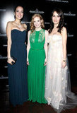 Jessica Chastain posed with Carmen Chaplin and Dolores Chaplin.