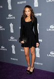 Revenge's Ashley Madekwe kept it short and simple in a black skater-style frock and coordinating platforms.