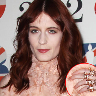 Florence Welch's Beauty Look at the 2012 Brit Awards