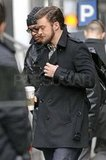 Justin Timberlake on set for Inside Llewyn Davis.