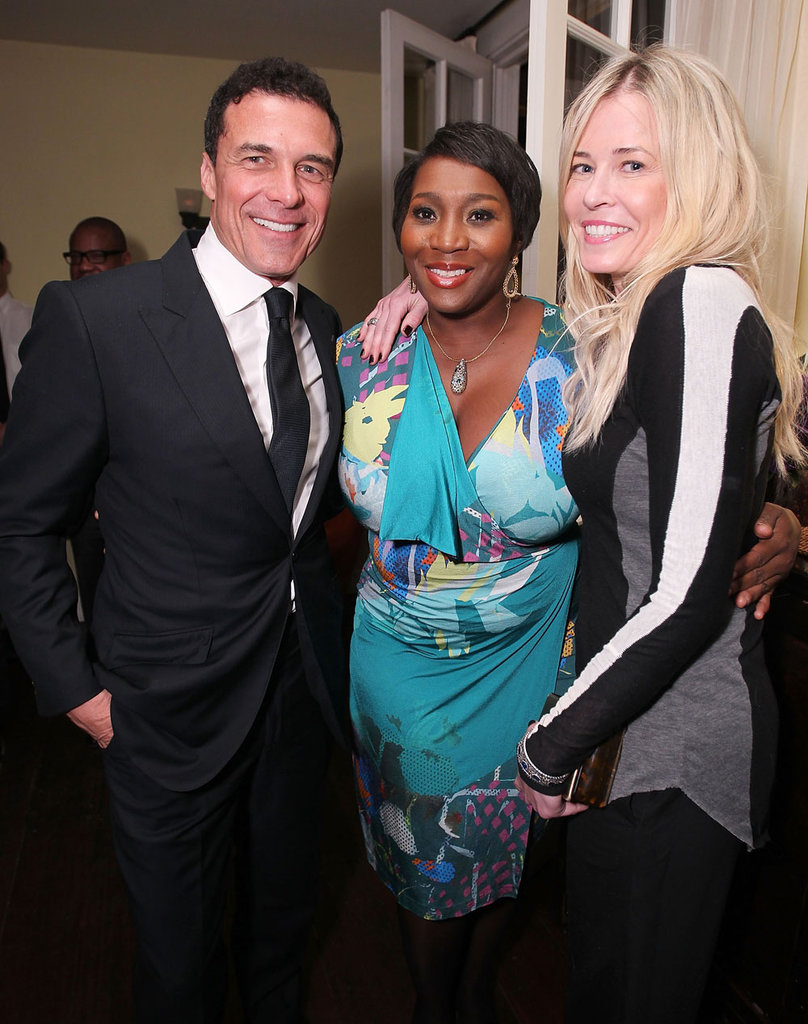 Andre Balazs and Chelsea Handler posed with Bevy Smith.