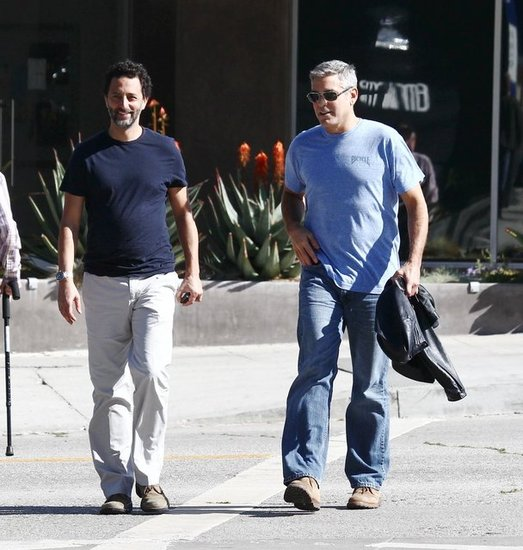 George Clooney and Grant Heslov in LA.