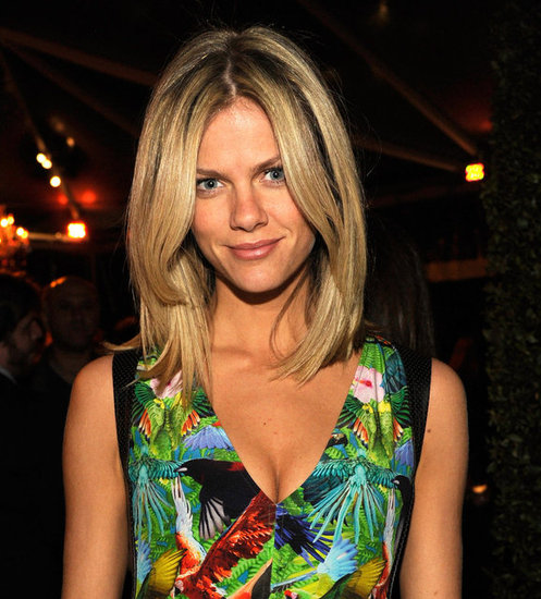 Brooklyn Decker posed at LA's Getty House.