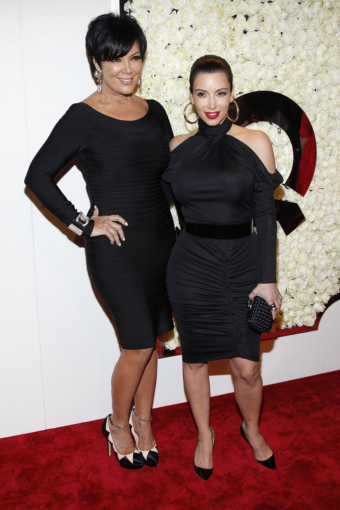 Kim Kardashian and Kris Jenner attended QVC's Buzz on the Red Carpet party and broadcast at the Beverly Hills Four Seasons Hotel.
