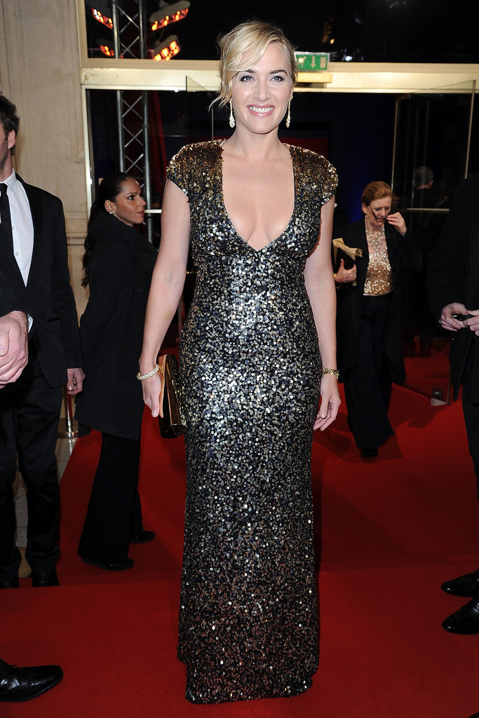 Kate Winslet Wows in a Plunging Sequin Dress at the César Awards