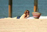 AnnaLynne McCord hung out on the beach in Santa Monica on a warm day.
