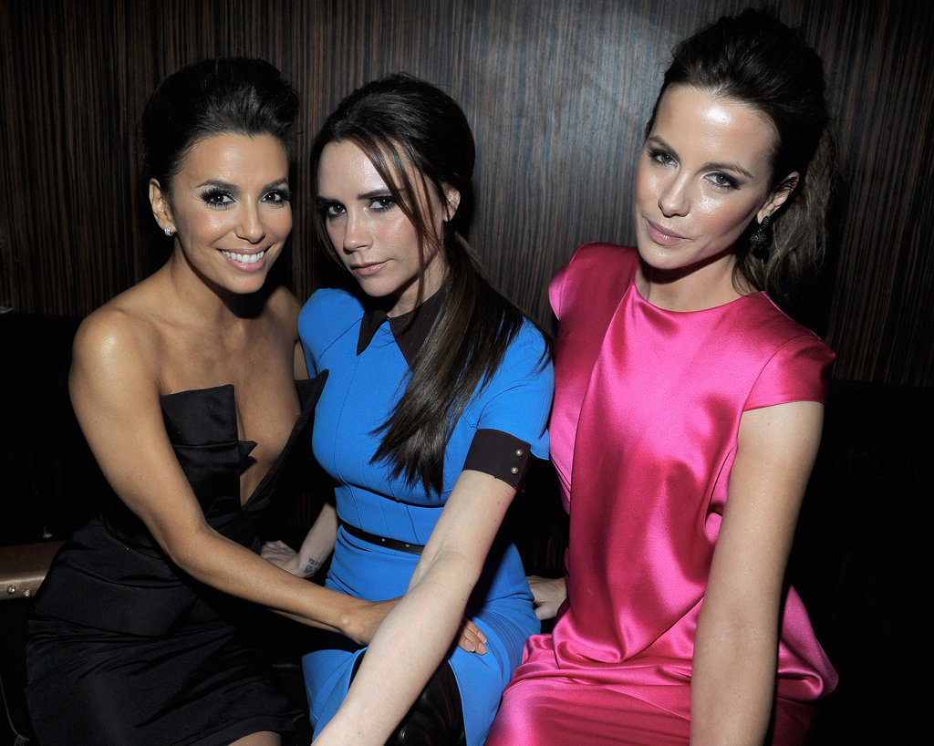 Eva Longoria, Victoria Beckham, and Kate Beckinsale met up at a bash held at Beso.