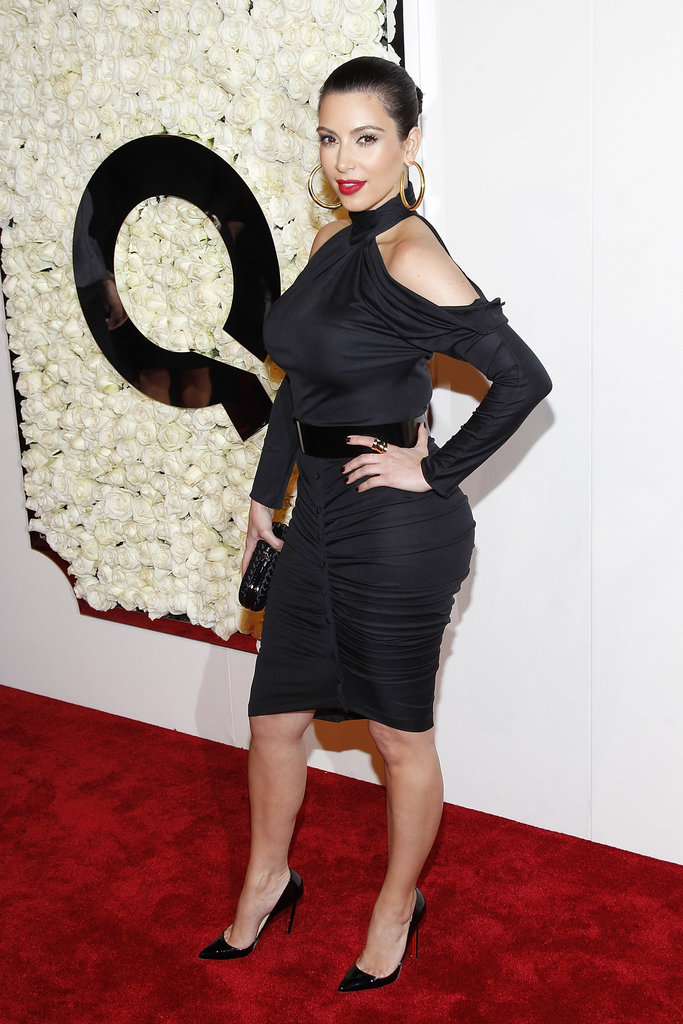 Kim Kardashian hit the red carpet for QVC.