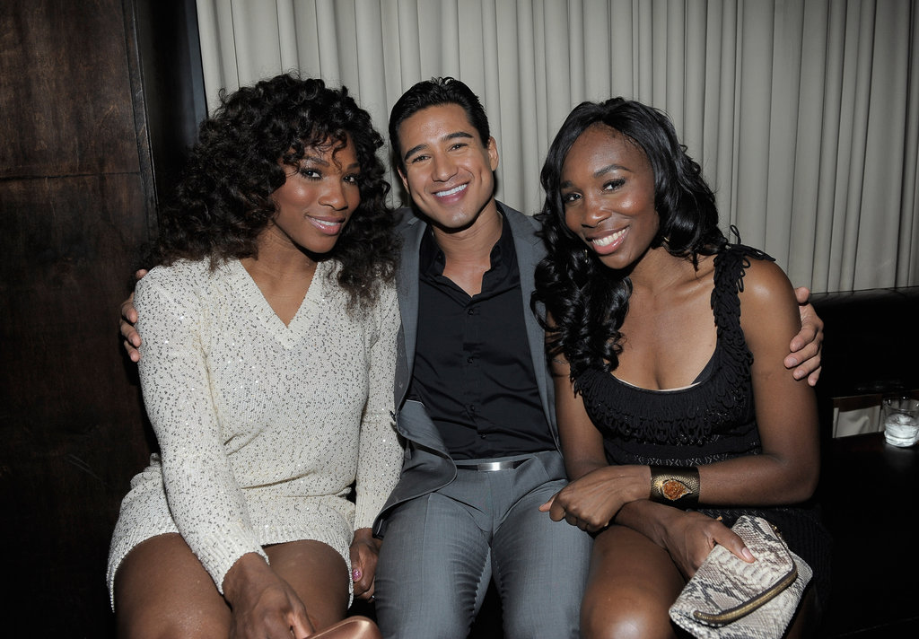 Mario Lopez said hello to Venus and Serena Williams.