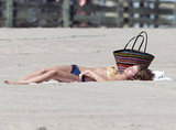 AnnaLynne McCord took a break and relaxed in the sun.