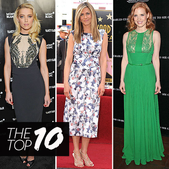 Fab's Top 10 Celebrity Looks of the Week — Amber, Jennifer, Jessica, and More!