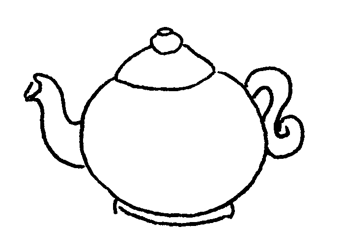 Free Coloring Pages Of Cartoon Tea Pots Teapot Coloring Page