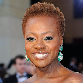 Viola Davis's Green Eyeliner at the Oscars 2012