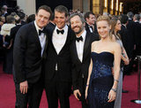 It was a funny gang reunion for Judd Apatow, Jason Segel, Nick Stoller, and Leslie Mann.