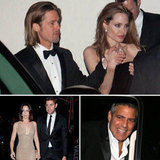 Brad and Angelina Party Post-Oscars With George, John, and Emily